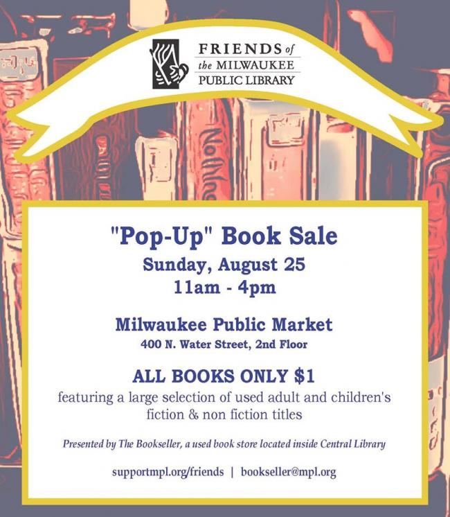 Pop-Up Book Sale - Milwaukee Public Market | Kids Out and